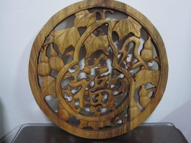 樟木雕工艺品(福字)